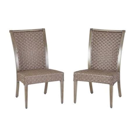 hton bay niles park sling patio dining chairs 2 pack
