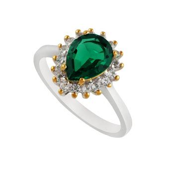 buy precious sterling silver emerald topaz ring