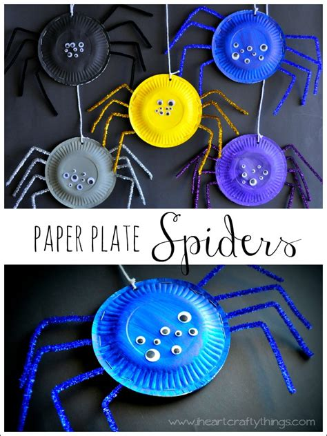 Paper Plate Spider Craft - crafts think crafts by createforless