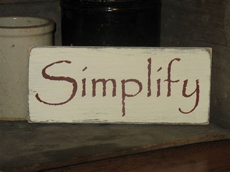 Simplify Home Decor by Simplify Wood Sign Primitive Rustic By Appalachianprimitive