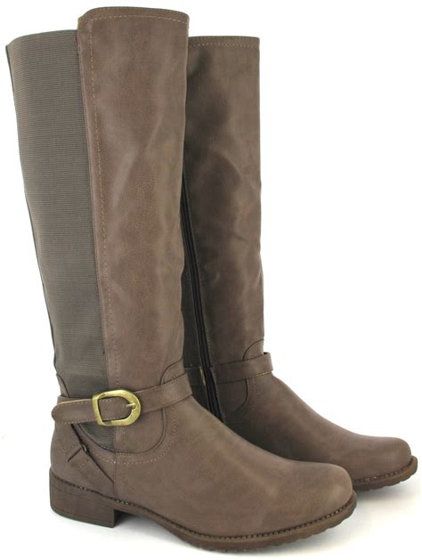 boots for big leg boots flat sole winter biker wide calf leg