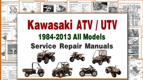 Kawasaki Atv Repair And Maintenance Manuals Amp Service