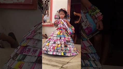 como hacer vestidos con reciclaje vestido de revista de reciclaje ganadora marielisa youtube