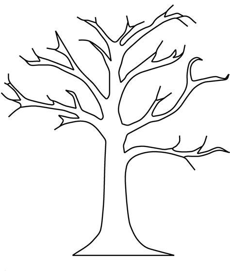 Coloring Page Tree by Apple Tree Template Dgn Apple Tree Without Leaves