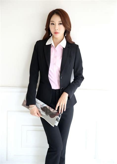 Set Blazer Seragam Guru 1 musim gugur resmi seragam kantor desain wanita setelan celana blazer set elegan pantsuits