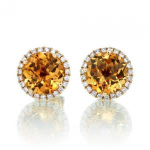citrine earrings citrine earrings halo stud 6 5mm