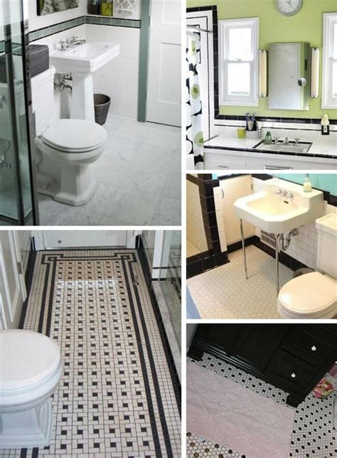 black and white tile ideas for bathrooms black and white tile bathrooms done 6 different ways