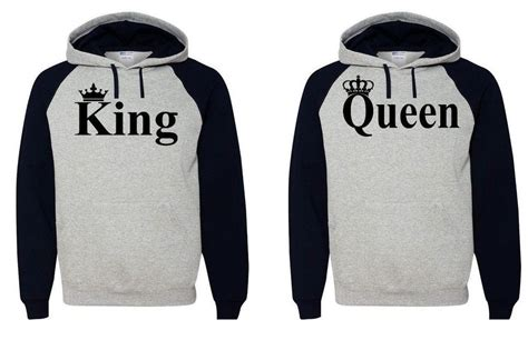 Boyfriend And Matching Jumpers King Hoodie Hooded Sweatshirt Boyfriend
