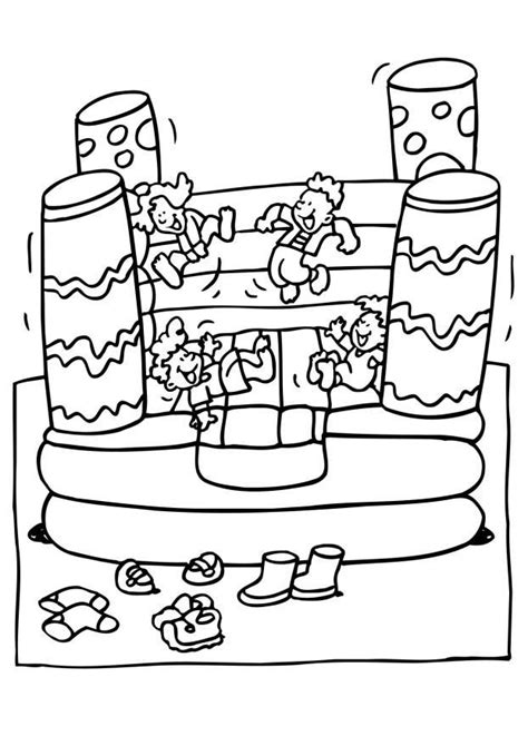 coloring page bounce house coloriage chateau gonflable img 6549