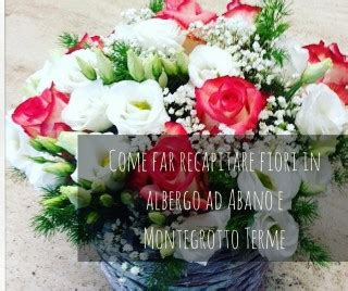 recapitare fiori come consegnare fiori in hotel ad abano e montegrotto terme