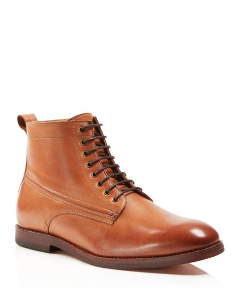 h by hudson boots lyst h by hudson forge mid boots in brown
