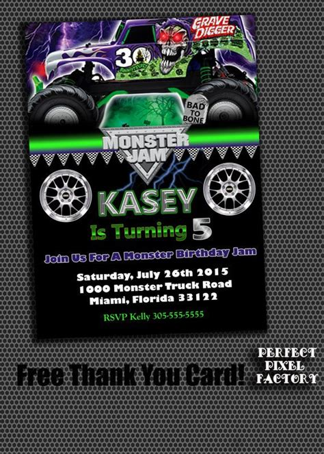 grave digger monster truck birthday party 187 best images about monster truck party on pinterest
