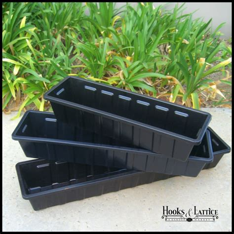 metal plastic window box liners hooks lattice - Plastic Window Flower Boxes