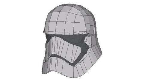 Papercraft Stormtrooper Helmet - wars episode iv a new simple stormtrooper