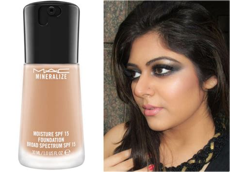 Mac Mineralize Foundation mac mineralize moisture spf 15 foundation review swatches