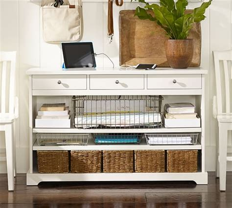 antique white entry table smart technology console table antique white
