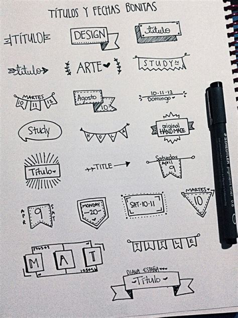 decorar titulos tumblr image about cute in notes by meri on we heart it