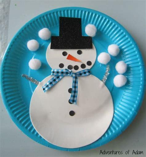 craft ideas using paper plates snowman paper plate craft v 253 tvarka paper