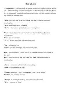 printable worksheets ks3 english ks3 english homophones by fionarigney teaching