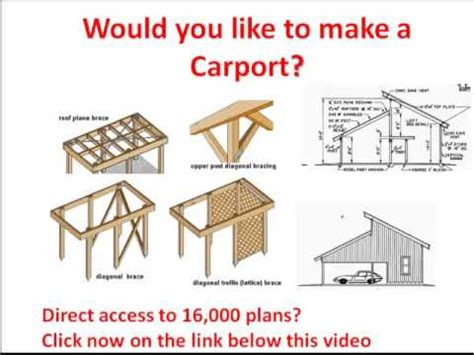 plan to build a house carport plans drawings from a carport click here