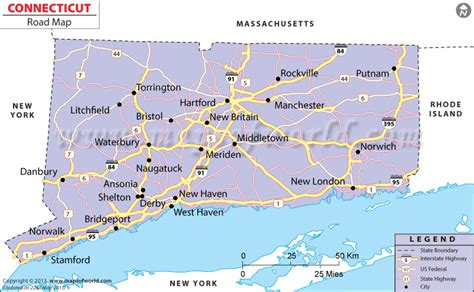 printable connecticut road map connecticut road map connecticut road network in usa