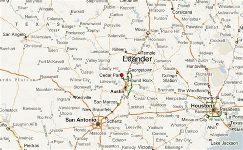 leander texas map leander location guide