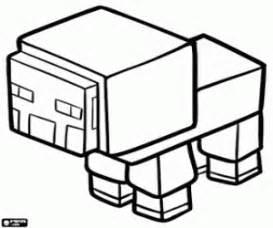 desenhos minecraft colorir jogos pintar imprimir 2