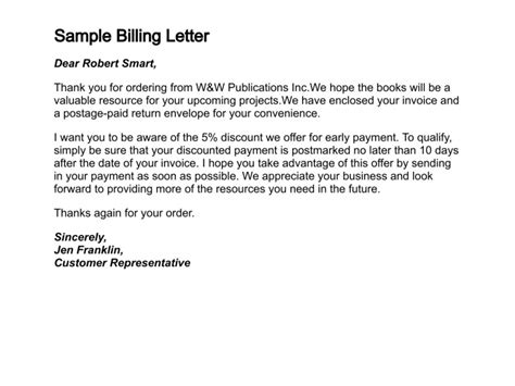 bill covering letter how to write a letter of billing