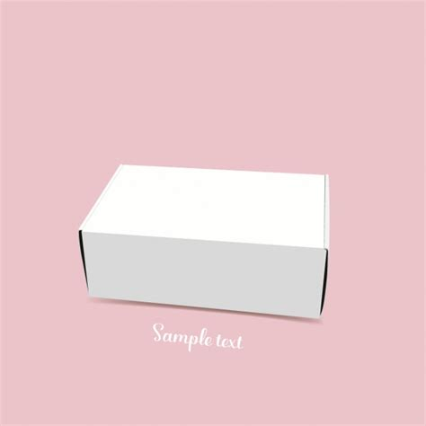 packaging template vector free white box template design vector free