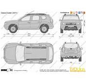 Dimensions Renault Duster 2010 Sandero Stepway  JohnyWheels