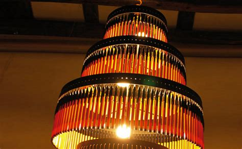ITSYBITCHY Recycled Bic Pen?s turned into Breath taking Chandeliers
