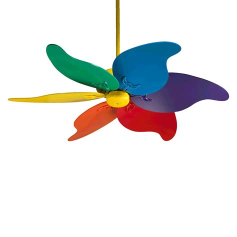 Multi Colored Ceiling Fans by Quorum International 33466 99 46 In Pinwheel Ceiling Fan