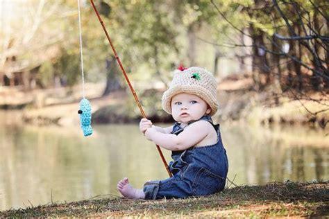 Baby Fishing custom made fly fishing hat crochet fisherman hat