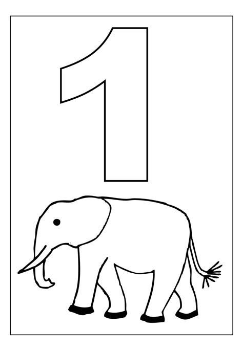 coloring page number two free printable number coloring pages for kids