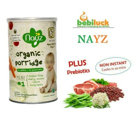 Diskon Nayz Bubur Bayi Organik Menu 1 Ayam 300gram bebiluck nayz bubur bayi organik premium halal dan bergizi