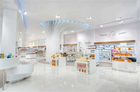 International Interior Design Companies In Dubai by Learn From The Bin Sina Pharmacy Mall Of The Emirates Redesign