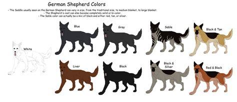 german shepherd coat colors german shepherd colors by black tiger of evil on deviantart