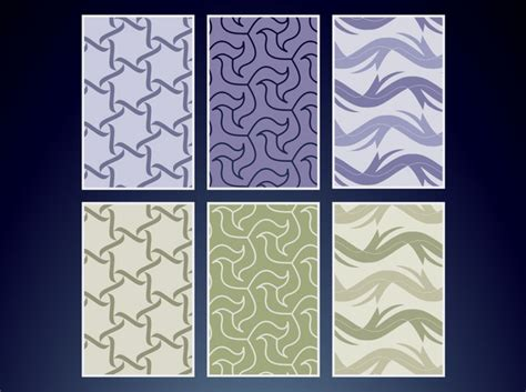 2 color pattern vector three different patterns in two colors each vector free