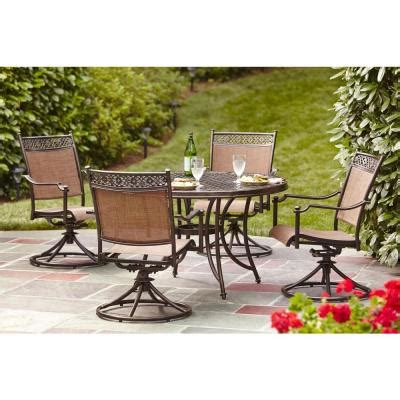 home depot patio dining sets hton bay niles park 5 sling patio dining set s5