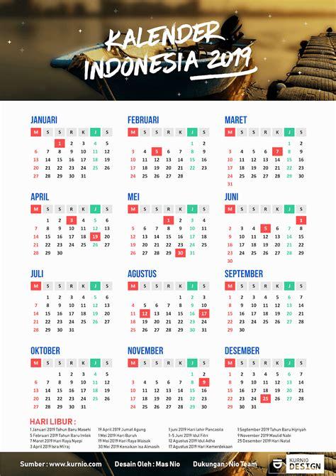 Kalender 2018 Indonesia Vector Kalender Indonesia 2019 Lengkap Pdf Jpg Png Hd