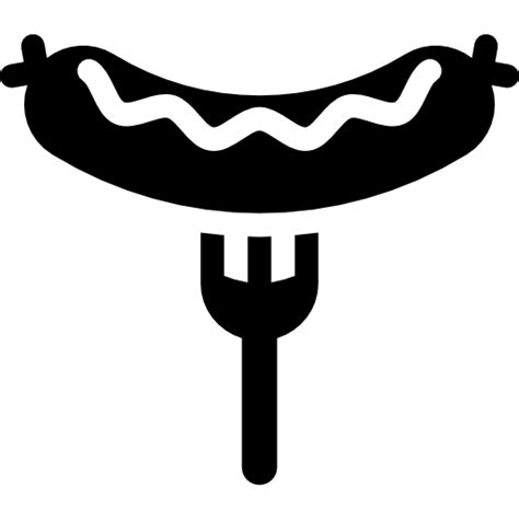 Sausage, german, food icon Hot Dog Clipart Black And White