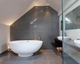 gray master bathroom interior