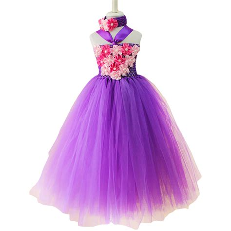 Handmade Tutu Dresses - beautiful purple flower tutu dress summer baby