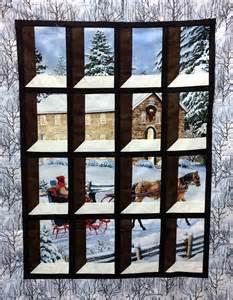 attic window panel quilt