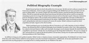 political biography examples bio examples