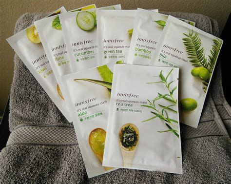 Inisfree Its Real Mask review innisfree it s real squeeze mask bija fifty shades of snail
