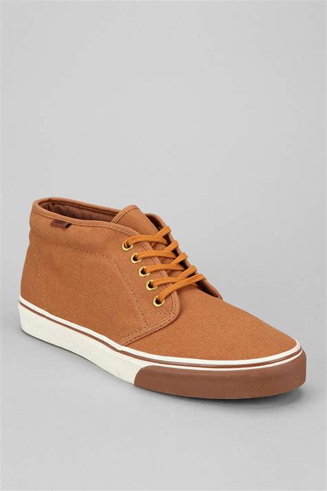 mens vans chukka boots vans heavy canvas chukka boot in brown for lyst
