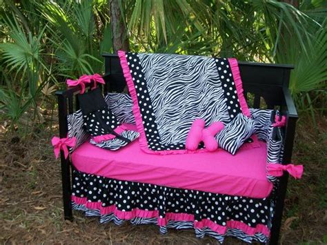 Pink And Zebra Crib Bedding New Black White Polka Dot Zebra And Pink Fabrics Crib Bedding Set Zebras Pink And Dots