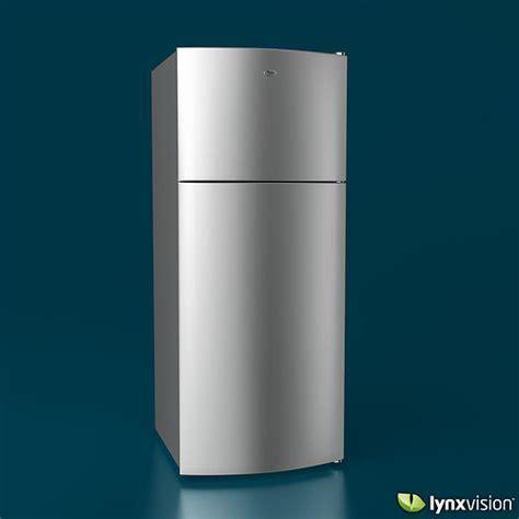 Whirlpool Top Freezer Refrigerator 3D Model MAX OBJ FBX