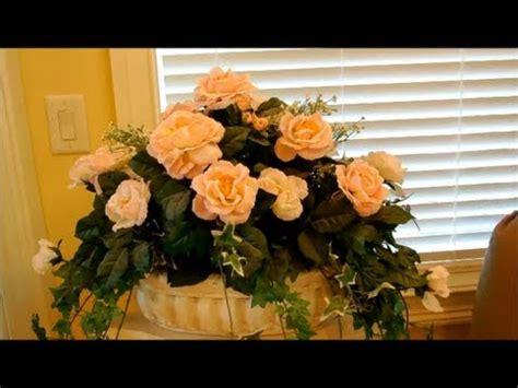 Artificial Christmas Centerpieces - how to make silk flower arrangements part 1 flower decoration interior design home